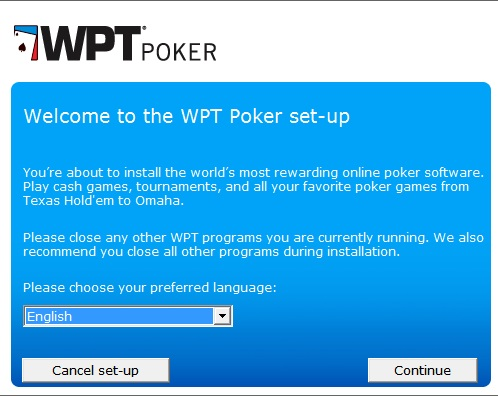 WPT Poker Registrace 2