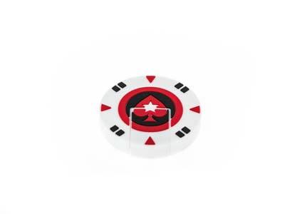 USB bílý pokerový žeton