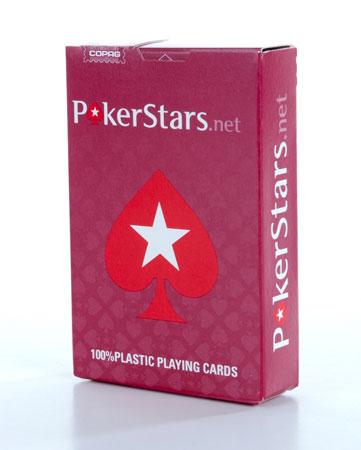 Balíček červených karet PokerStars 100% plast značky Copag
