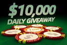 Party Poker 10 000 dolarů daily giveaway - turnaje na online pokerové herně Party Poker