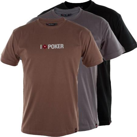 Stylové tričko PokerStars - I Love poker (fialové, šedé a černé) L, XL, XXL
