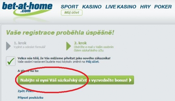 Registrace do online pokerové herny bet-at-home - 3