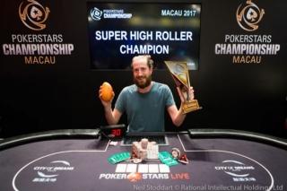 O'Dwyer si podmanil HK$400k Super High Roller PSC Macau