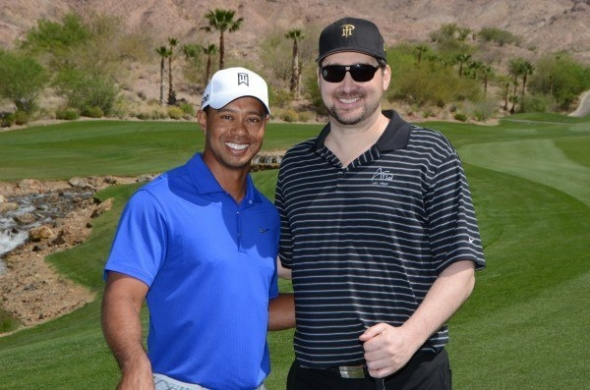 Tiger Woods a Phil Hellmuth na Tiger Jam 2015