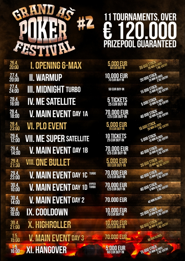 Program Grand Aš Poker Festivalu II