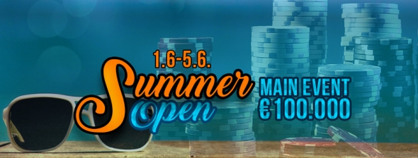 Summer Open v Grand Casinu Aš s garancí €100,000