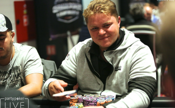 Chip leader Viktor Langlitz