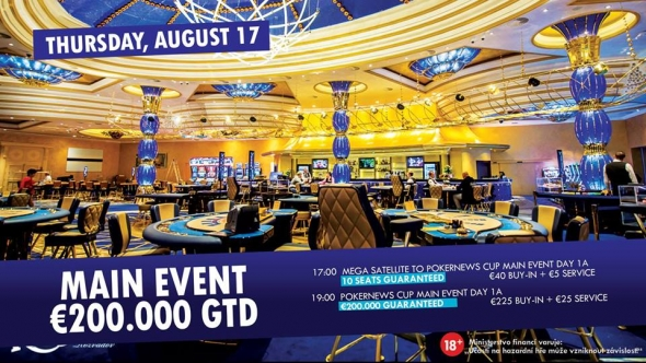V King's startuje Main Event PokerNews Cup o €200,000