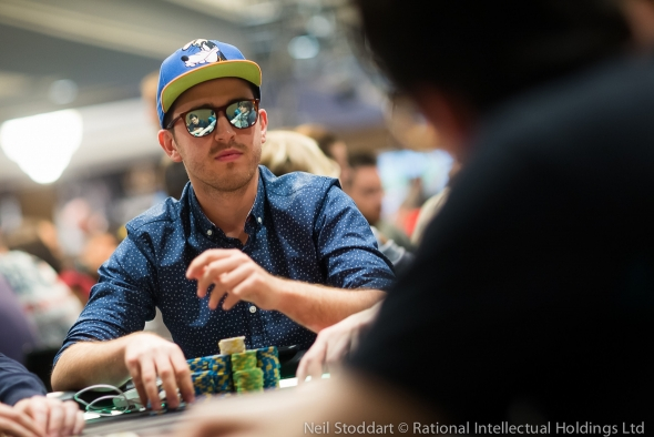 Chip leader Coray Aldemir