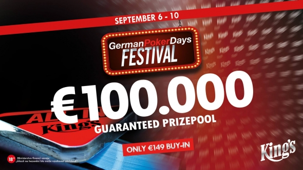 German Poker Days v King's o €100,000 GTD
