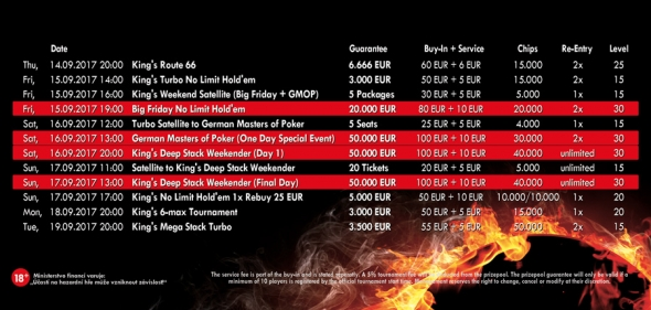 Program German Masters of Poker