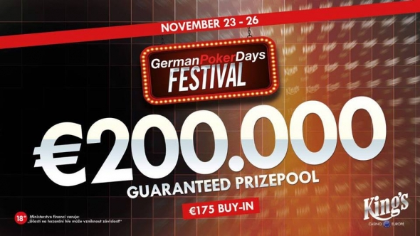 German Poker Days v King's o €200,000 GTD