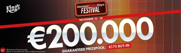 German Poker Days se vrací s €200,000 GTD