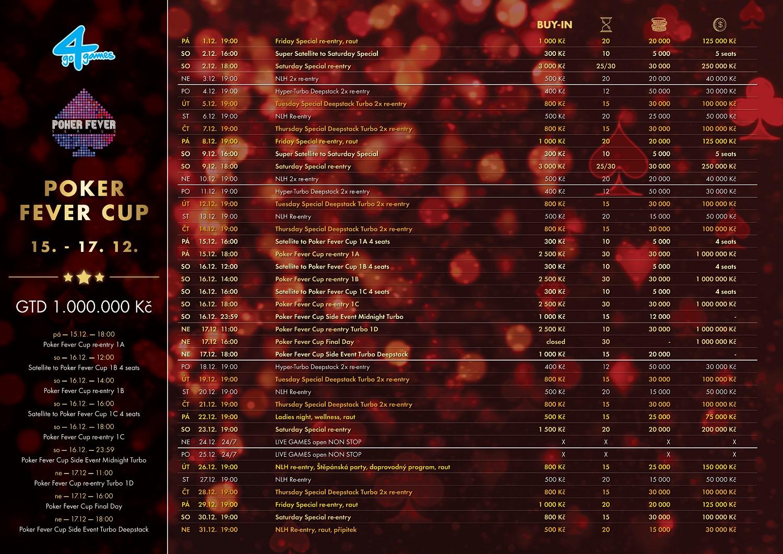 Prosincové turnaje v Go4Games Casino Olomouc - Hodolany