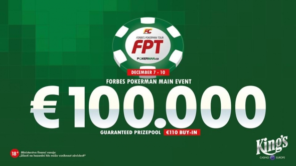 Forbes Pokerman Open v King's o €100,000 GTD