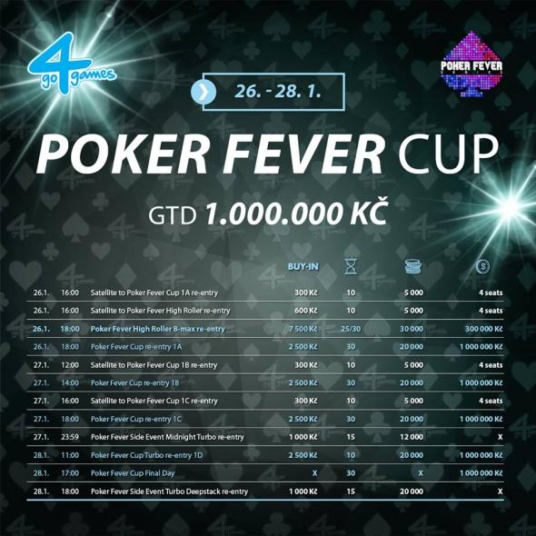Program lednového Poker Fever Cupu