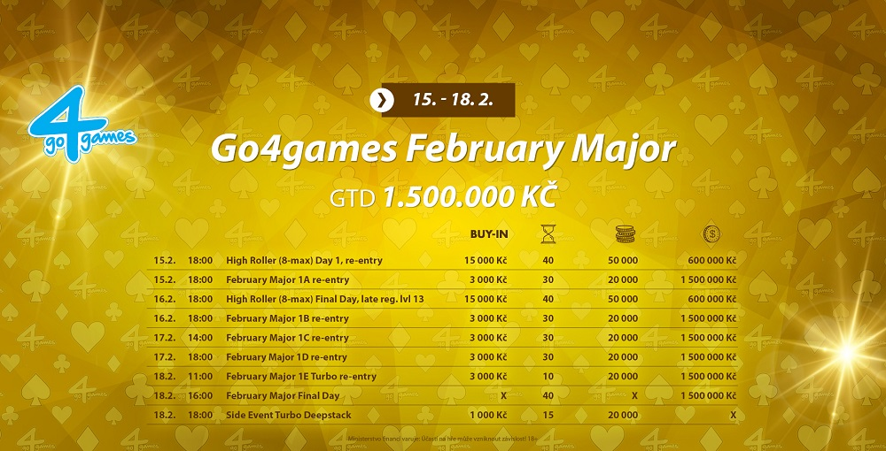 Program February Majoru v Go4Games Hodolany