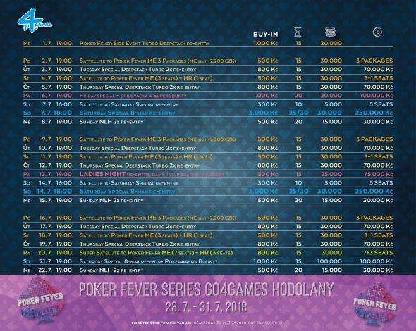 Červencové turnaje v Go4Games Casino Olomouc - herna Hodolany