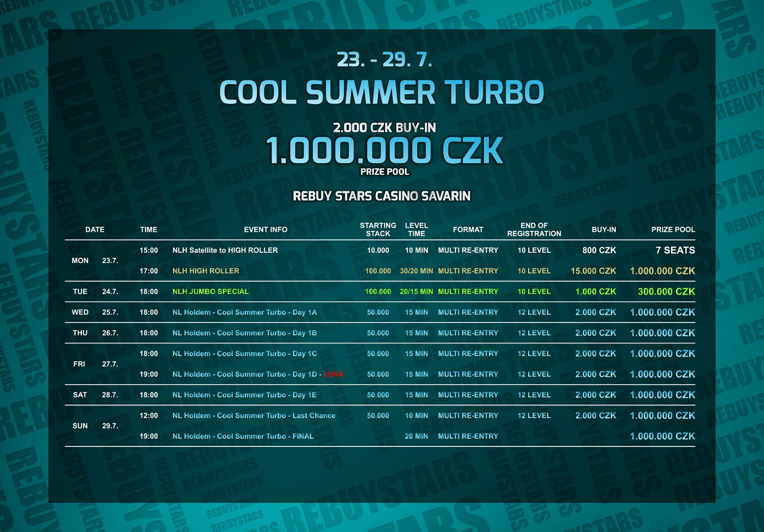 Program Cool Summer Turbo v Casinu Savarin