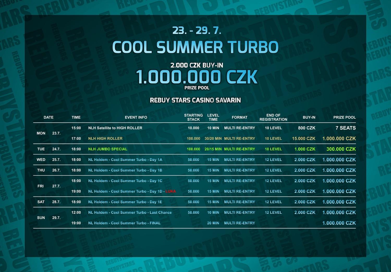 Program Cool Summer Turbo v Casinu Savarin