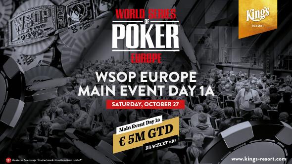 Začíná Main Event WSOPE