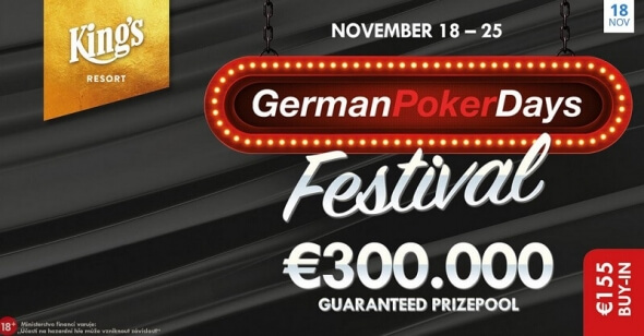 German Poker Days se spoustou turnajů a Main Eventem o €200,000
