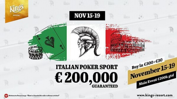 Do King's míří Italian Poker Sport s garancí €200,000