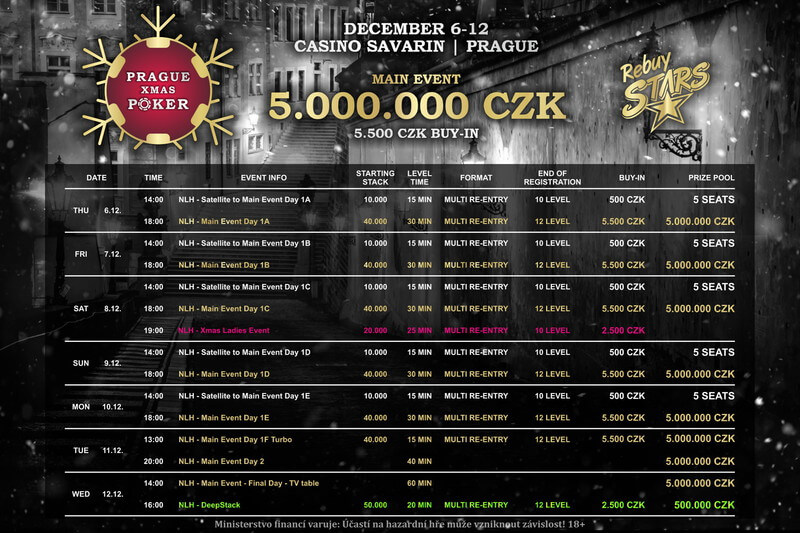 Program Prague Xmas Poker
