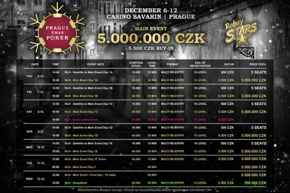 Program Prague Xmas Poker