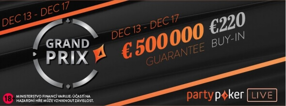 PartyPoker Grand Prix se vrací do King's s garancí €500,000
