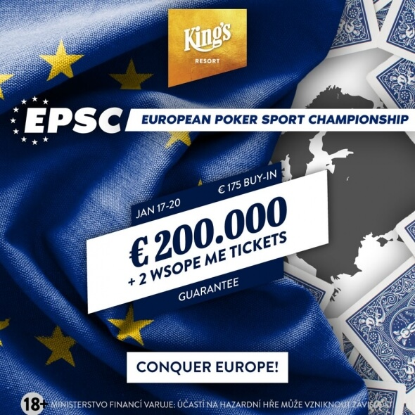Do King's míří European Poker Sport Championship o €200,000 GTD