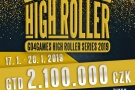 Go4Games High Roller Series header - leden 2019