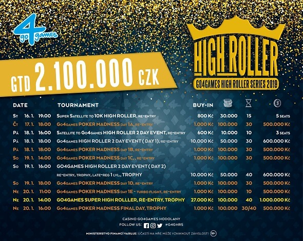 Program High Roller Series v Go4Games