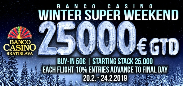 Super Weekend s garancí €25,000.