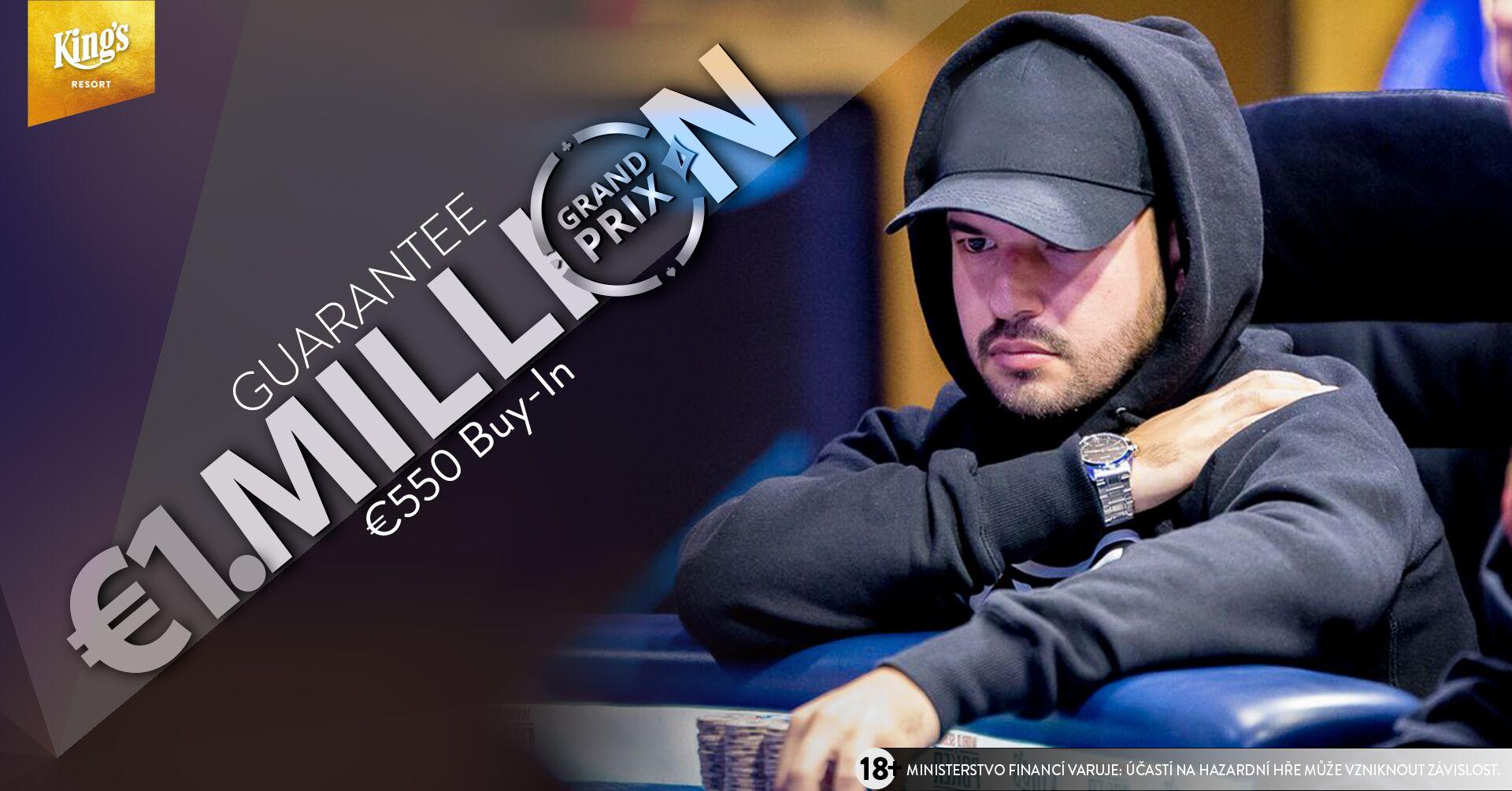 €550 partypoker Grand Prix Million King's o€1,000,000 vhotovosti adalších €103,500 ve vstupenkách