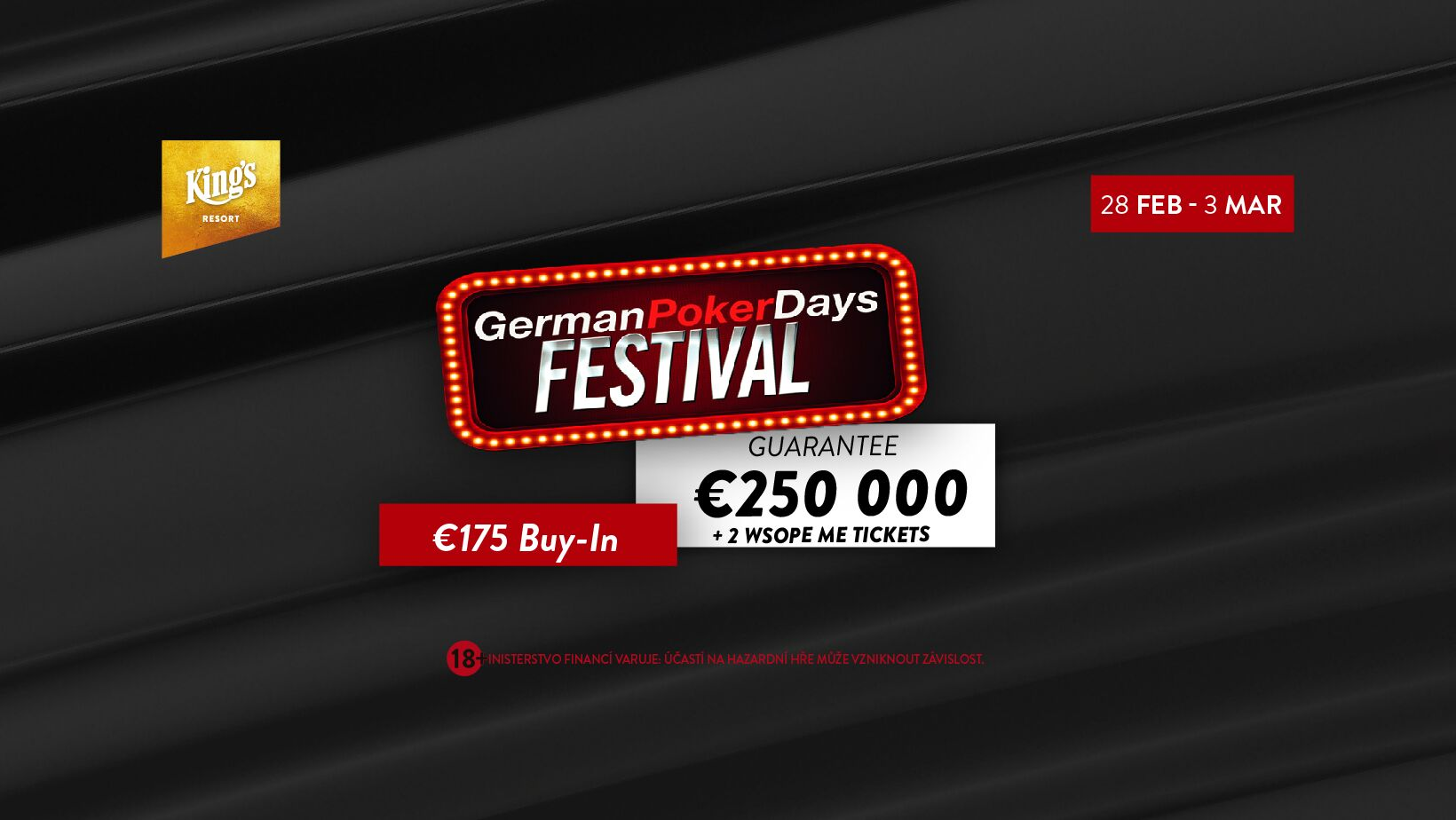 German Poker Days míří do King's příští týden