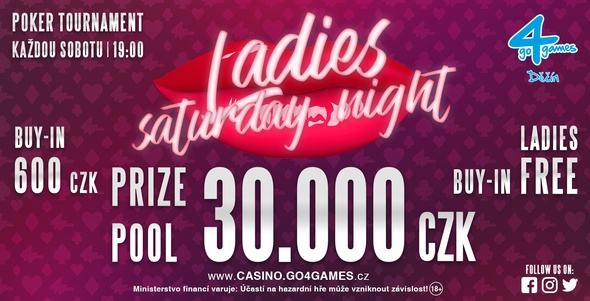 Casino Go4games Děčín - Ladies Saturday Night.
