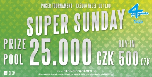 Casino Go4games Děčín - Super Sunday.