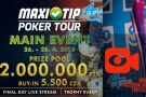 Live stream: Finále Main Eventu MaxiTip Poker Tour