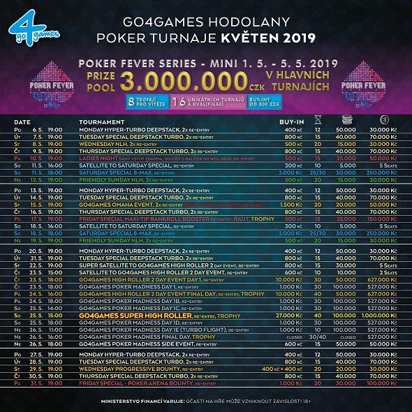 Květnové turnaje v Go4Games Casino Olomouc - herna Hodolany 2