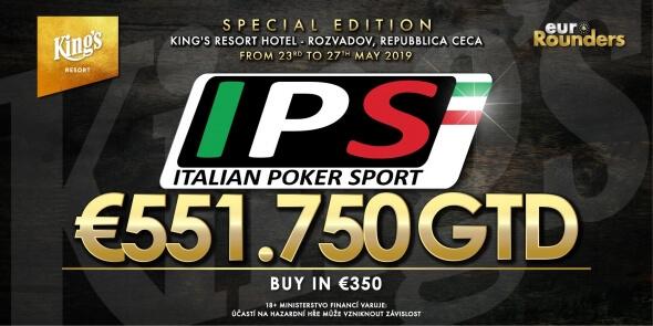Italian Poker Sport přinese příští týden garanci €551,750