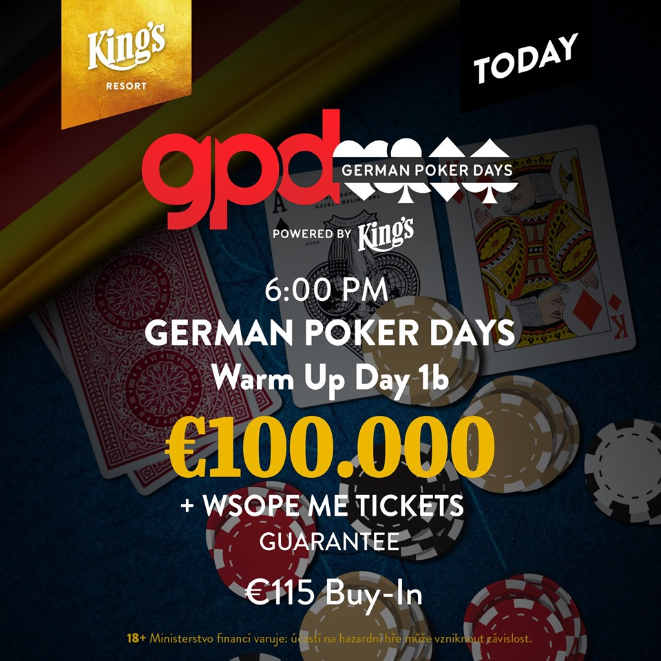 Odstartoval Warm Up German Poker Days