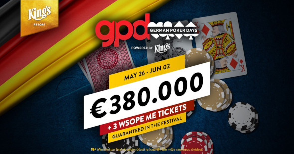 German Poker Days přivážejí do King's garanci přes €400,000