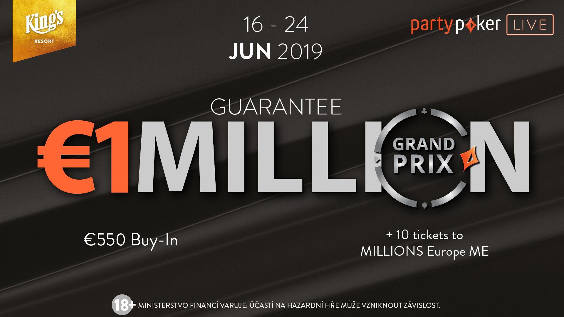 Druhá polovina června bude vKing's patřit partypoker Grand Prix