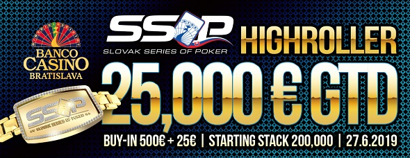 Slovak Series of Poker 2019 - High Roller o €25,000