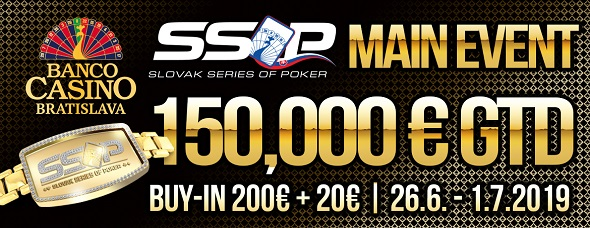 Slovak Series of Poker 2019 - Main Event o €150,000