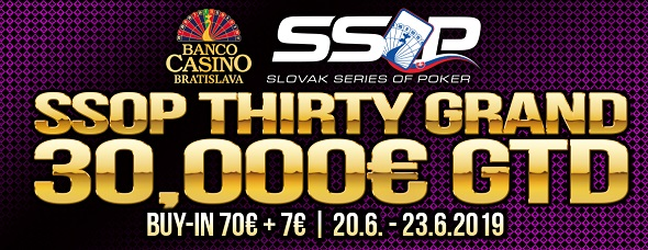Slovak Series of Poker 2019 - Thirty Grand o €30,000