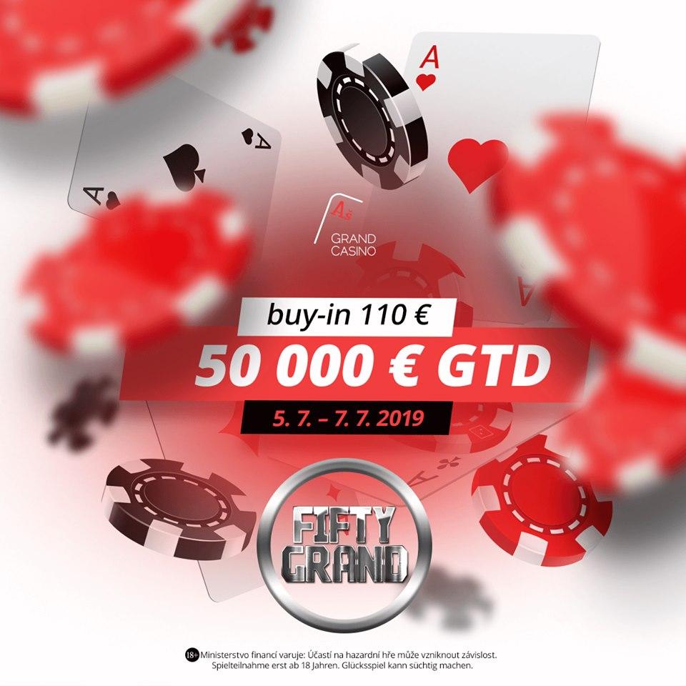 V červencovém Fifty Grand se hraje o €50,000 GTD