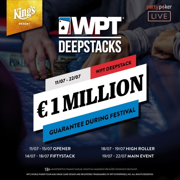Rozvadovská WPT DeepStacks s garancí přes €1,000,000