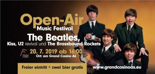 Na Grand Open-Air Music Festivalu zahrají Beatles, U2 i Kiss